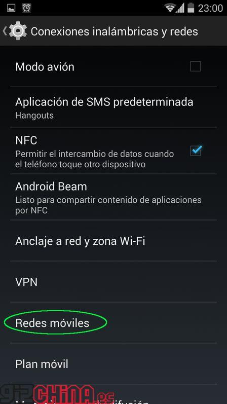 Ajuste APN Android