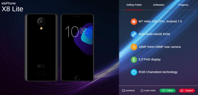 elePhone-X8-Lite