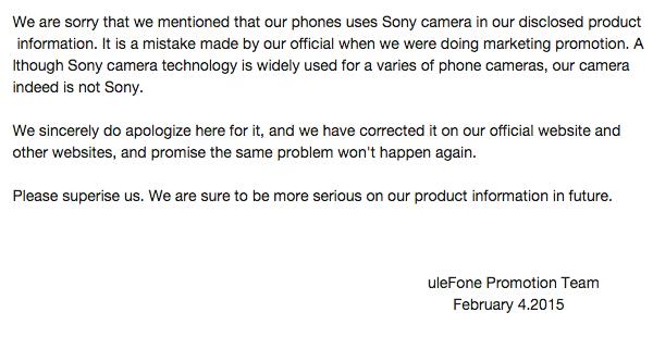 uleFone cámara