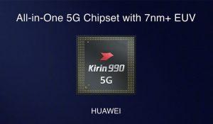 Huawei anuncia el Kirin 990 5G, su primer chip 5G de 7 nm